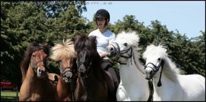 Kristine o hästarna